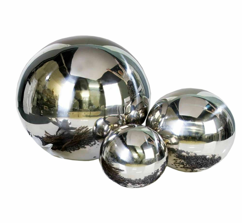 Dekokugel 3er set jardín bala Bala de acero inoxidable brillante Color plata