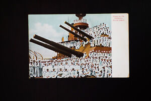US-Early-WWI-Postcard-of-Battleship-Rhode-Island