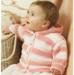 Knitting Pattern Child s Hooded Jacket : KNITTING Pattern-Baby/Childs Hooded or V Neck Jacket in DK ...