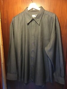 OUTFIT-MENS-LONG-SLEEVE-GREY-SHIRT-SIZE-XL