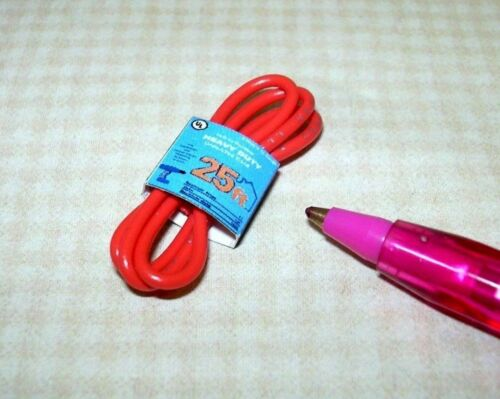 "DOLLHOUSE 1:12 Scale Miniature ORANGE Heavy Duty /""Outdoor/""-Type Extension Cord"