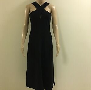 Stunning-Theory-Black-Dress-Made-In-USA-Size-6-But-Would-Fit-8-10-Also