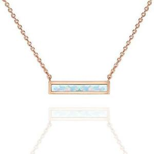 14k-Yellow-Gold-Plated-Silver-Synthetic-Pink-Opal-Bar-Necklace