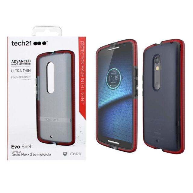 best website fbff9 8f288 tech21 EVO Shell Case for Motorola Droid Maxx 2 Smokey Red T21-4489 UA