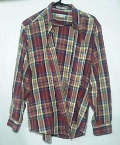 Levis-Colorgraphs-Men-039-s-Size-Large-L-Long-Sleeve-Button-Down-Shirt-Vintage-80s
