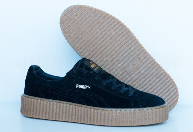 new concept 87003 0b356 NEW PUMA FENTY BY RIHANNA CREEPERS SUEDE BLACK - OATMEAL MEN'S SHOES ALL  SIZES