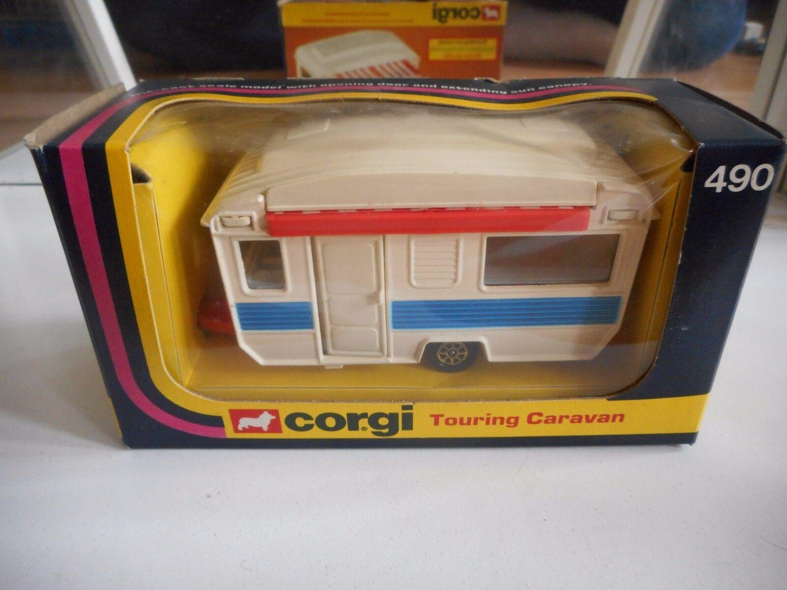 Corgi Touring Caravan in White in in in Box (Corgi nr  490) aedf2d