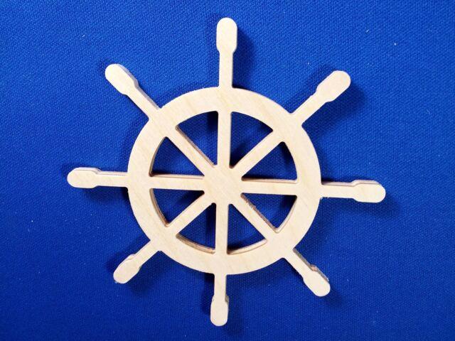 Ship Wheel Wooden Craft Shape Various Sizes & Qtys Nautical Ship Boat Yacht