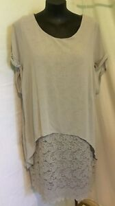 AUTOGRAPH-GREY-SILVER-DRAPE-LACE-OVERLAY-DRESS-SZ-20-NEW-NEW-STOCK-JUST-IN