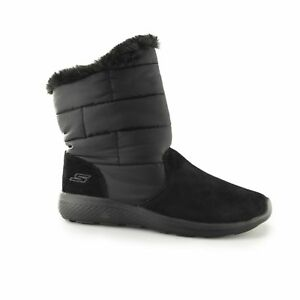 Details about Skechers ON THE GO CITY 2 PUFF Ladies Womens Warm Faux Fur Winter Boots Black