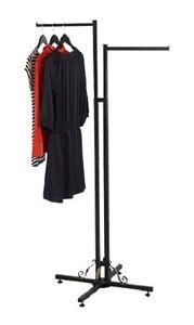 4 WAY Chrome Clothing Garment Retail Display Rack Clothes Hanger Fixture  72/'/'