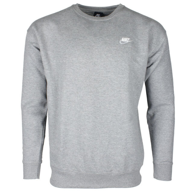 Nike Men's Athletic Wear Embroidered Logo Club Crew Neck Gym Active  Sweatshirt