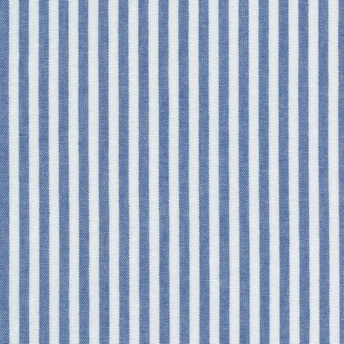 Gewebt Marineblau und weiβ Textiles français 100/% Baumwolle StoffStreifen