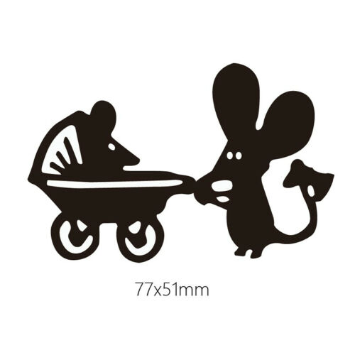 Ant Cutting Dies Metal Stencil DIY Scrapbook Album Paper Card Mouse Dance Girl