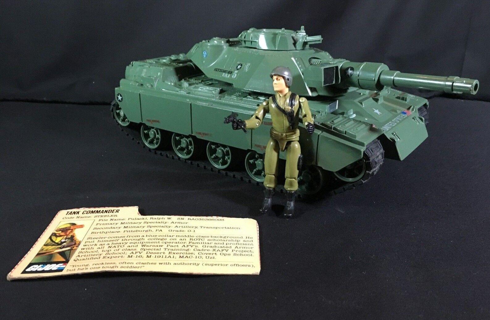 1987 GI Joe MODAT MOTORIZED BATTLE TANK  Driver  Comuomoder STEELER & File autod  fabbrica diretta