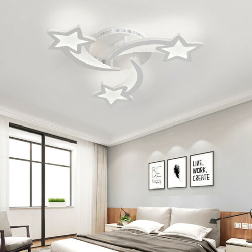 Modern Acrylic Chandelier Light 3//5//9 Heads LED Ceiling Star Lamp Remote Choose