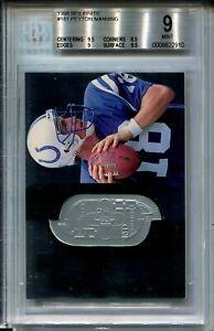 1998-SPx-Finite-Football-181-Peyton-Manning-Rookie-Card-RC-Graded-BGS-MINT-9