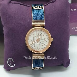 Authentic Brand New Charriol Forever Watch in Rose Gold and Blue