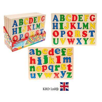 ALPHABET PUZZLE Jigsaw Kids Child Learning ABC Wood Toy Birthday Christmas Gift