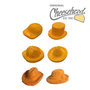 de83ccd8141 Image is loading Cheesehead-Hat-Magnets-6-pk