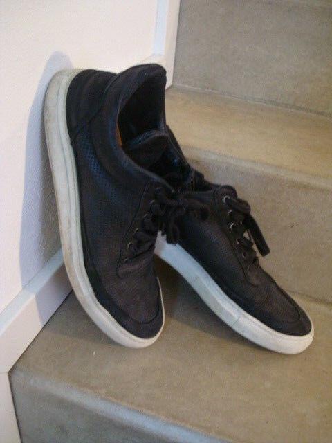 FILLING-PIECES-SCHUHWERK-MANN-TURNSCHUHE Schuhe schwarz Echt Leder 44