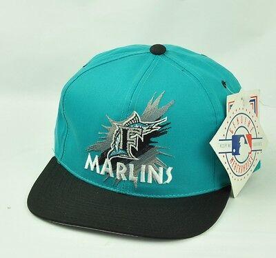 Sport Mlb Miami Florida Marlins Blau Snapback Mütze Kappe Flat Bill Vintage Old School Diversifizierte Neueste Designs Weitere Ballsportarten