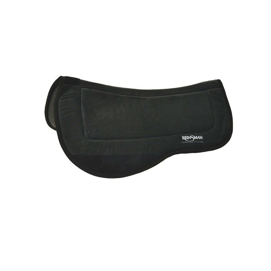 Contour Trail Saddle Pad For Horses Anti-Bacterial Graphite Microsuede