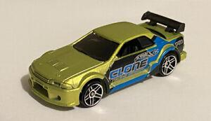 2004 HOT WHEELS Nissan Skyline R32 GTR razza notte VERDE 5-Pack auto JDM Clone
