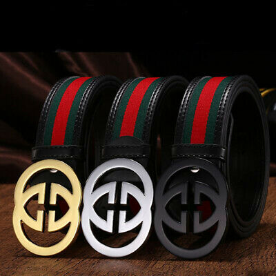 "New Sell Fashion Men/'s Women Belts Couple Leather/""G/"" Buckle Waist Belt Waistband"
