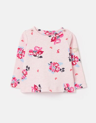 Joules Baby Girls Harbour Print Organically Grown Cotton Top Pink Marl Floral