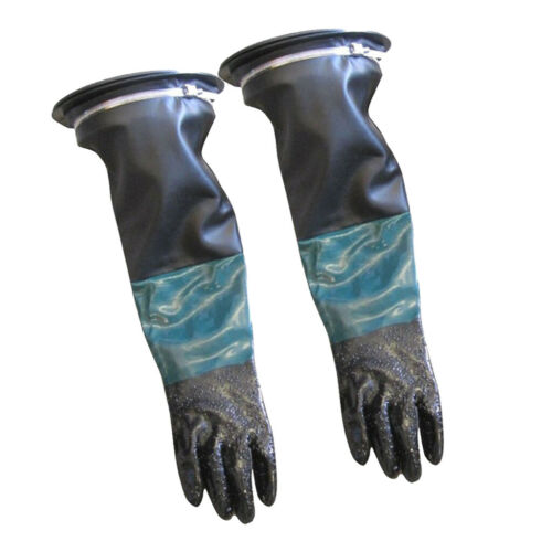 "Pair Of Gloves Holder Clamp Set PVC 24/"" Long for Sand Blasting Cabinet"