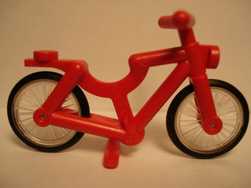 LEGO One New Red Bicycle Complete Assembly With Two Wheels  2012  CITY  5-12