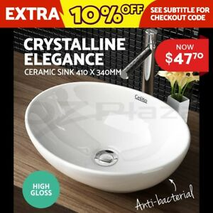 Cefito-Ceramic-Basin-Hand-Wash-Bowl-Bathroom-Sink-Gloss-Counter-Top-Vanity-Oval