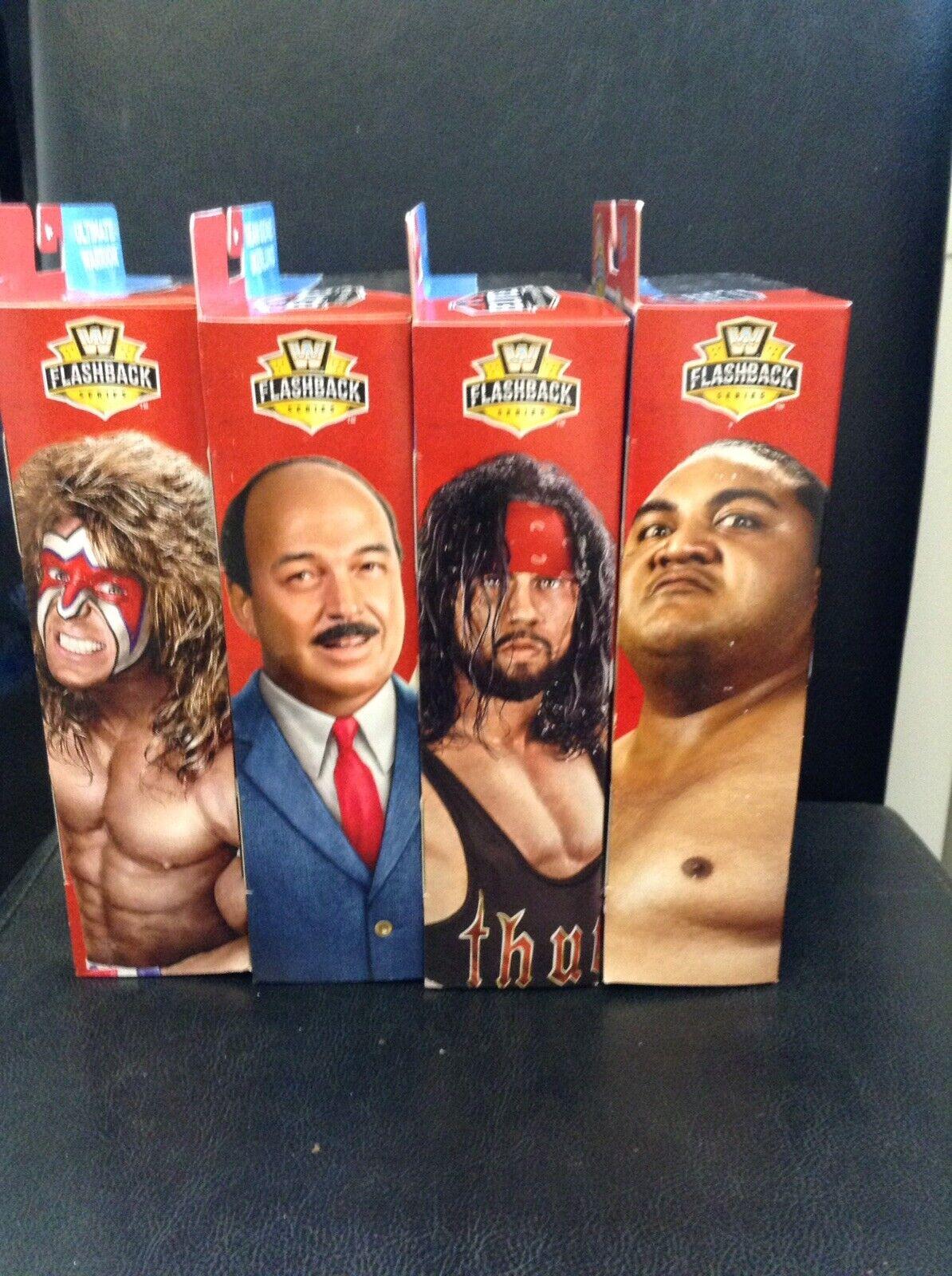 WWE Elite Figures Bundle Set Of 4 Flashback Series Build A Set