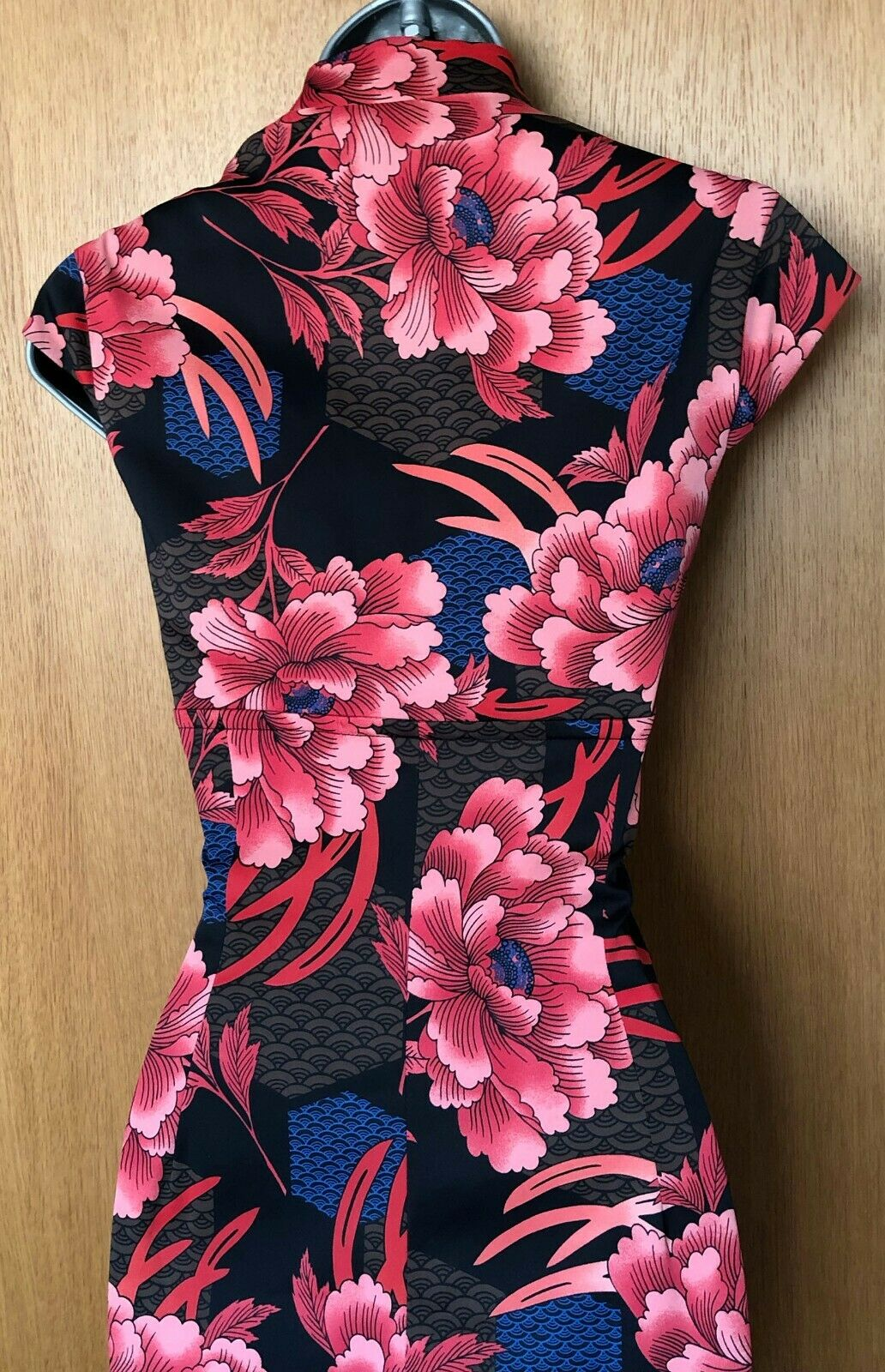 Enchanting UK 12 KAREN MILLEN Oriental Floral Cocktail Cocktail Cocktail Wiggle Pencil Dress EU 40 93d668