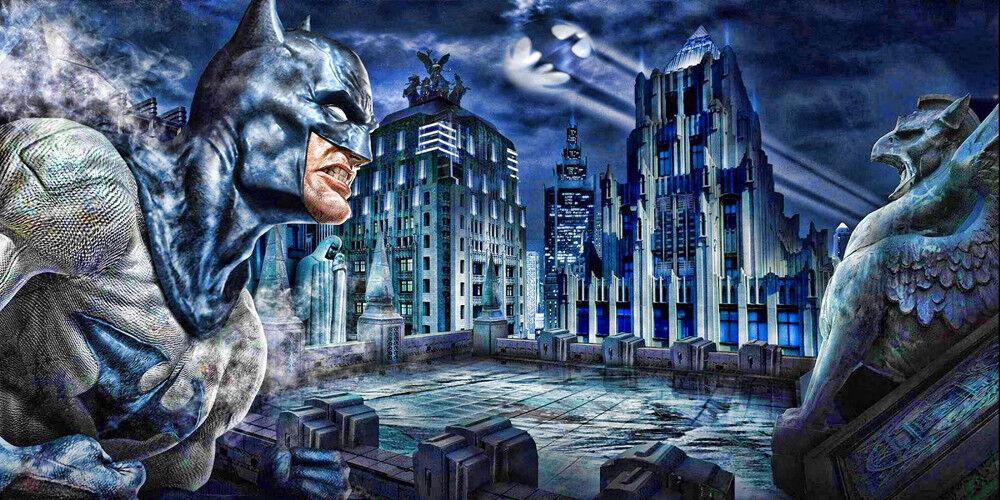 Batman Rooftop  - CANVAS OR PRINT WALL ART