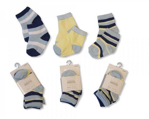 Cotton Rich Baby Socks Boys 3 pairs 2095