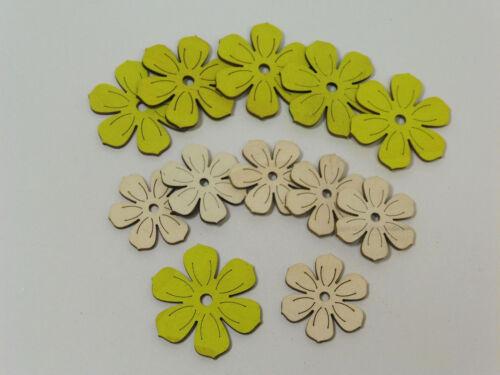 12 madera flores streudeko streuteile frühlingsdeko streuelemente vintage flores R