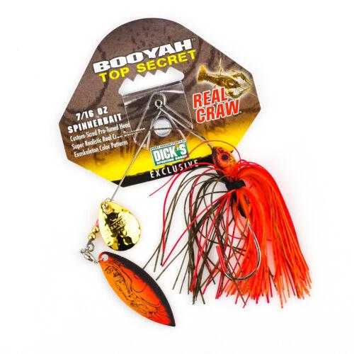 BOOYAH Top Secret Real Craw Spinnerbait  7//16oz