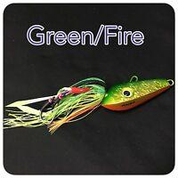 Caivo 3d Mad Dog Jigs Col:green/fire , Bottom Jigs