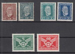 X2130-GERMANY-REICH-MI-362-363-368-369-370-371-MNH-CV-185