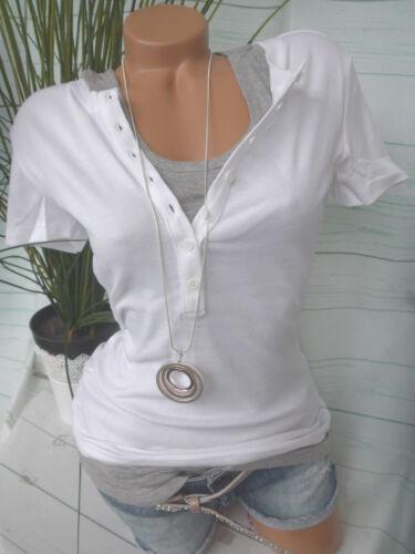 2 piezas de nuevo 500 Camisa FLASHLIGHTS y top talla 32//34 hasta 52//54 blanco gris