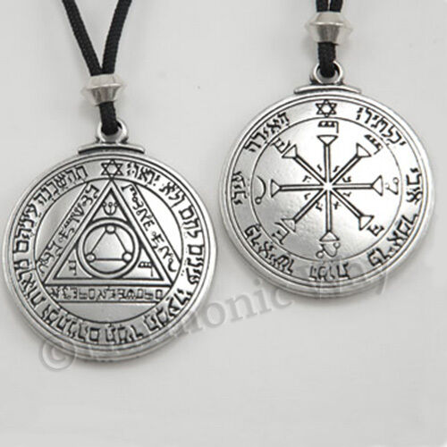 SUN PENTACLE TALISMAN Seal of Solomon Amulet Pendant Necklace bin in store