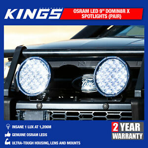 Kings-OSRAM-Domin8r-X-9-inch-LED-Driving-Lights-Spot-Pair-Offroad-Spotlight-Work