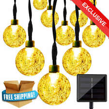 20 LED Solar String Lights Outdoor Garden Xmas Party Fairy Light Tree Warm White