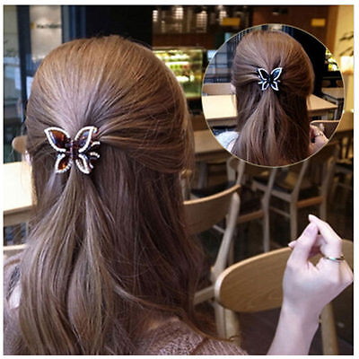 Womens Butterfly Crystal Rhinestone Claw Hairpin Women Hair Clamp Accessory Clip