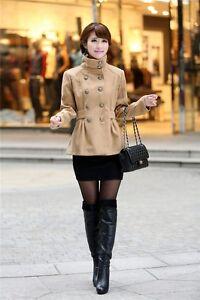 Caricamento dell immagine in corso Giacca-cappotto-cappottino-caldo-corto- elegante-donna-cammello- 186cef7688b2
