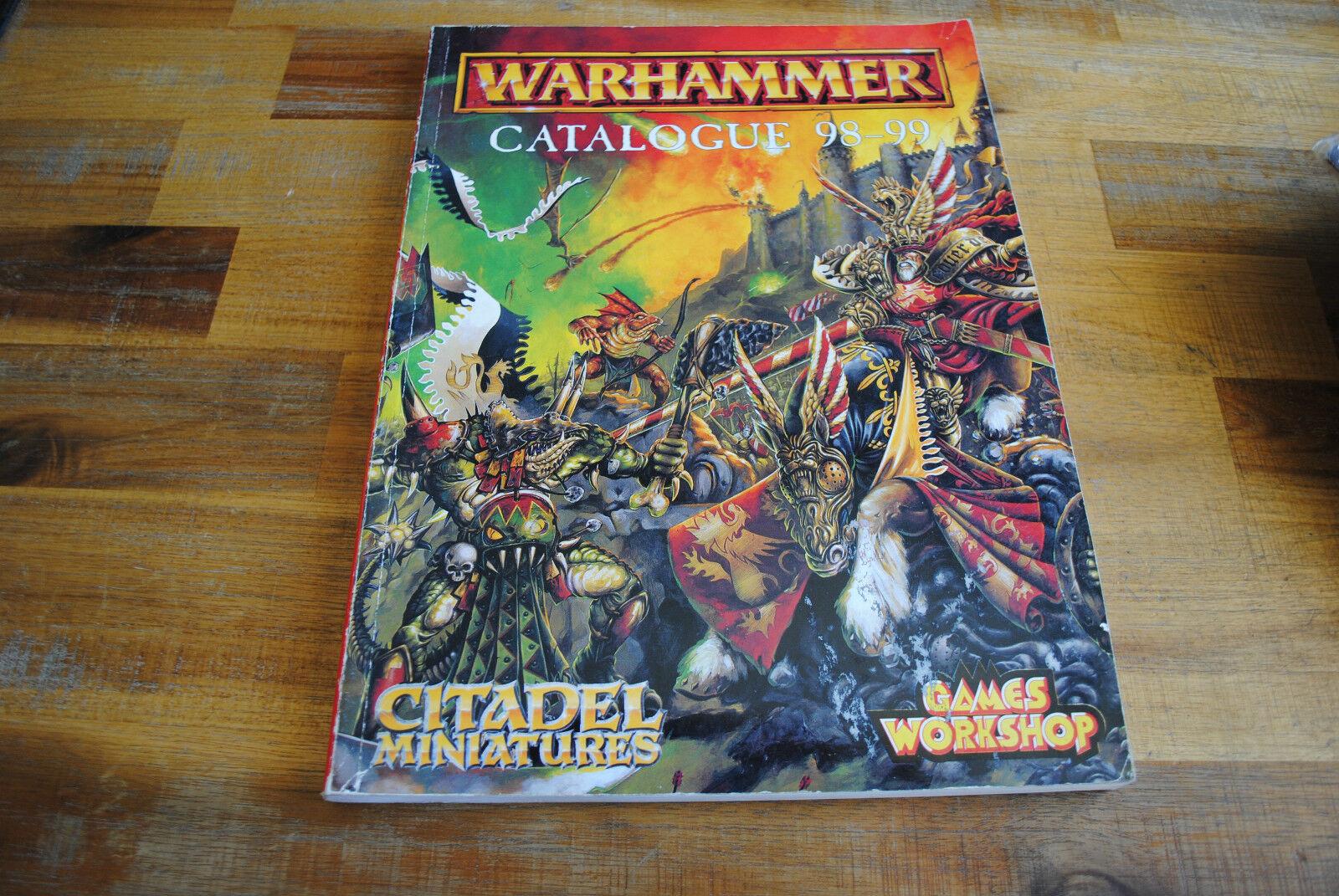 Livre warhammer zitadelle miniaturen katalog 98 - 99 (vo)