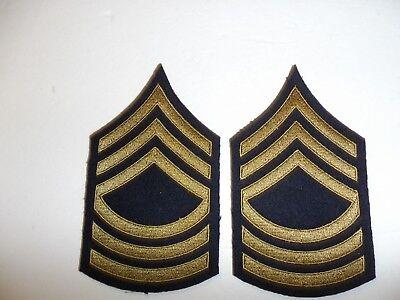 1063p WW2 US Army /& Air Force Technician 4 Grade fourth Chevrons Khaki pair R1B