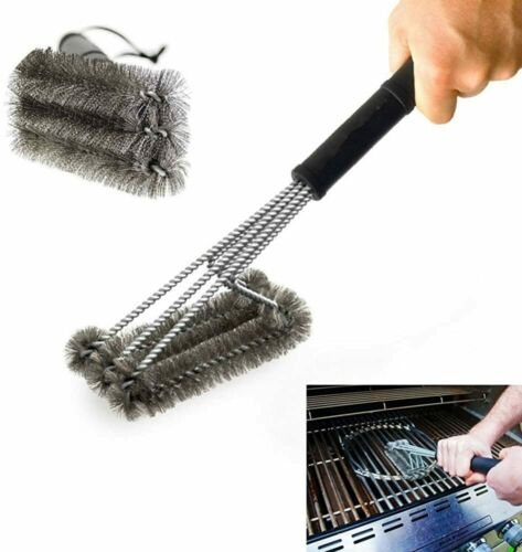 """PePeng 18/"""" Triangle Metal BBQ Grill Cleaning Brush Heavy Duty 3-Branch Stainles"""